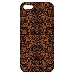 DAMASK2 BLACK MARBLE & RUSTED METAL Apple iPhone 5 Hardshell Case