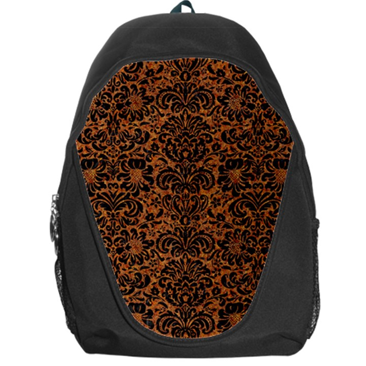 DAMASK2 BLACK MARBLE & RUSTED METAL Backpack Bag