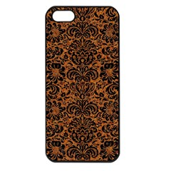 DAMASK2 BLACK MARBLE & RUSTED METAL Apple iPhone 5 Seamless Case (Black)