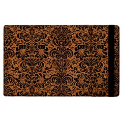 Damask2 Black Marble & Rusted Metal Apple Ipad 2 Flip Case by trendistuff