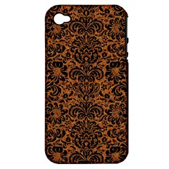 DAMASK2 BLACK MARBLE & RUSTED METAL Apple iPhone 4/4S Hardshell Case (PC+Silicone)