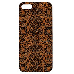 Damask2 Black Marble & Rusted Metal Apple Iphone 5 Hardshell Case With Stand