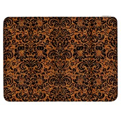 Damask2 Black Marble & Rusted Metal Samsung Galaxy Tab 7  P1000 Flip Case by trendistuff