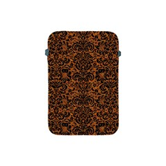 Damask2 Black Marble & Rusted Metal Apple Ipad Mini Protective Soft Cases by trendistuff