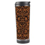 DAMASK2 BLACK MARBLE & RUSTED METAL Travel Tumbler Left