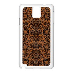 DAMASK2 BLACK MARBLE & RUSTED METAL Samsung Galaxy Note 3 N9005 Case (White)