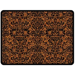 DAMASK2 BLACK MARBLE & RUSTED METAL Double Sided Fleece Blanket (Large)