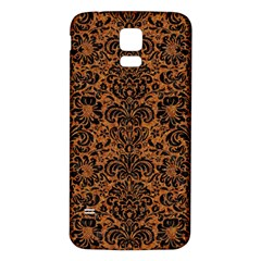 DAMASK2 BLACK MARBLE & RUSTED METAL Samsung Galaxy S5 Back Case (White)
