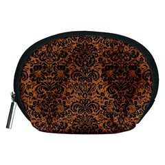 DAMASK2 BLACK MARBLE & RUSTED METAL Accessory Pouches (Medium)