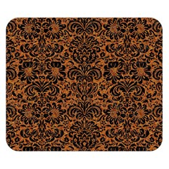 DAMASK2 BLACK MARBLE & RUSTED METAL Double Sided Flano Blanket (Small)