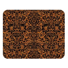 DAMASK2 BLACK MARBLE & RUSTED METAL Double Sided Flano Blanket (Large)