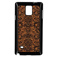 Damask2 Black Marble & Rusted Metal Samsung Galaxy Note 4 Case (black) by trendistuff