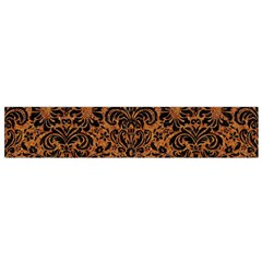 DAMASK2 BLACK MARBLE & RUSTED METAL Flano Scarf (Small)