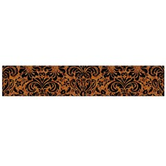DAMASK2 BLACK MARBLE & RUSTED METAL Flano Scarf (Large)