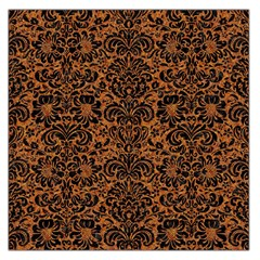 DAMASK2 BLACK MARBLE & RUSTED METAL Large Satin Scarf (Square)