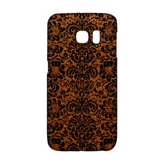 Damask2 Black Marble & Rusted Metal Galaxy S6 Edge