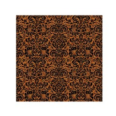 DAMASK2 BLACK MARBLE & RUSTED METAL Small Satin Scarf (Square)