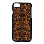DAMASK2 BLACK MARBLE & RUSTED METAL Apple iPhone 7 Seamless Case (Black) Front