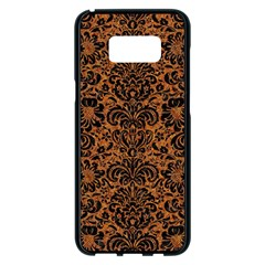 DAMASK2 BLACK MARBLE & RUSTED METAL Samsung Galaxy S8 Plus Black Seamless Case
