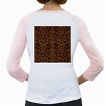 DAMASK2 BLACK MARBLE & RUSTED METAL (R) Girly Raglans Back
