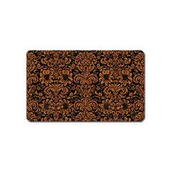 Damask2 Black Marble & Rusted Metal (r) Magnet (name Card) by trendistuff