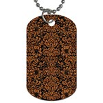DAMASK2 BLACK MARBLE & RUSTED METAL (R) Dog Tag (Two Sides) Front