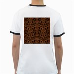DAMASK2 BLACK MARBLE & RUSTED METAL (R) Ringer T-Shirts Back