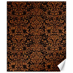 Damask2 Black Marble & Rusted Metal (r) Canvas 8  X 10  by trendistuff