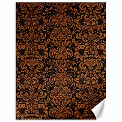 Damask2 Black Marble & Rusted Metal (r) Canvas 18  X 24   by trendistuff