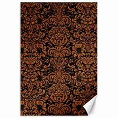 Damask2 Black Marble & Rusted Metal (r) Canvas 20  X 30   by trendistuff
