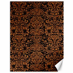 Damask2 Black Marble & Rusted Metal (r) Canvas 36  X 48   by trendistuff