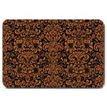 DAMASK2 BLACK MARBLE & RUSTED METAL (R) Large Doormat  30 x20 Door Mat - 1