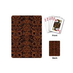Damask2 Black Marble & Rusted Metal (r) Playing Cards (mini)  by trendistuff