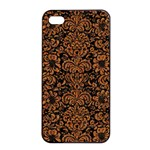 DAMASK2 BLACK MARBLE & RUSTED METAL (R) Apple iPhone 4/4s Seamless Case (Black) Front