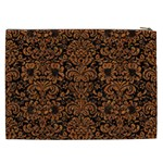 DAMASK2 BLACK MARBLE & RUSTED METAL (R) Cosmetic Bag (XXL)  Back