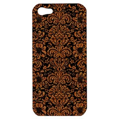 Damask2 Black Marble & Rusted Metal (r) Apple Iphone 5 Hardshell Case by trendistuff