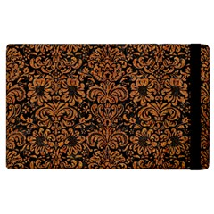 Damask2 Black Marble & Rusted Metal (r) Apple Ipad 3/4 Flip Case