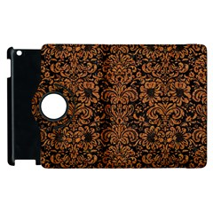Damask2 Black Marble & Rusted Metal (r) Apple Ipad 3/4 Flip 360 Case by trendistuff