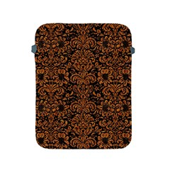 Damask2 Black Marble & Rusted Metal (r) Apple Ipad 2/3/4 Protective Soft Cases by trendistuff