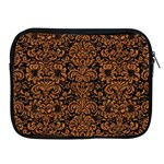 DAMASK2 BLACK MARBLE & RUSTED METAL (R) Apple iPad 2/3/4 Zipper Cases Front