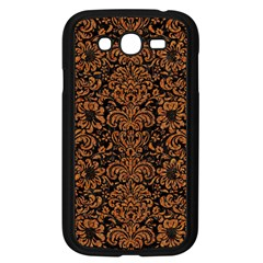 Damask2 Black Marble & Rusted Metal (r) Samsung Galaxy Grand Duos I9082 Case (black) by trendistuff