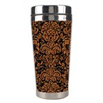 DAMASK2 BLACK MARBLE & RUSTED METAL (R) Stainless Steel Travel Tumblers Center