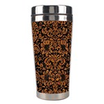 DAMASK2 BLACK MARBLE & RUSTED METAL (R) Stainless Steel Travel Tumblers Right