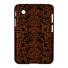 Damask2 Black Marble & Rusted Metal (r) Samsung Galaxy Tab 2 (7 ) P3100 Hardshell Case  by trendistuff