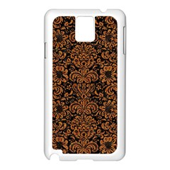 Damask2 Black Marble & Rusted Metal (r) Samsung Galaxy Note 3 N9005 Case (white) by trendistuff