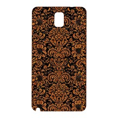 Damask2 Black Marble & Rusted Metal (r) Samsung Galaxy Note 3 N9005 Hardshell Back Case by trendistuff