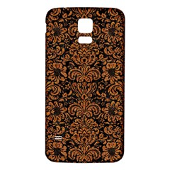 Damask2 Black Marble & Rusted Metal (r) Samsung Galaxy S5 Back Case (white) by trendistuff
