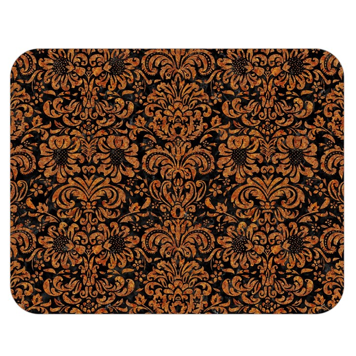 DAMASK2 BLACK MARBLE & RUSTED METAL (R) Double Sided Flano Blanket (Medium)