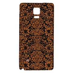 Damask2 Black Marble & Rusted Metal (r) Galaxy Note 4 Back Case by trendistuff