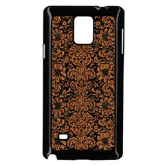 Damask2 Black Marble & Rusted Metal (r) Samsung Galaxy Note 4 Case (black) by trendistuff